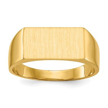 14k 7.0x13.0mm Closed Back Signet Ring