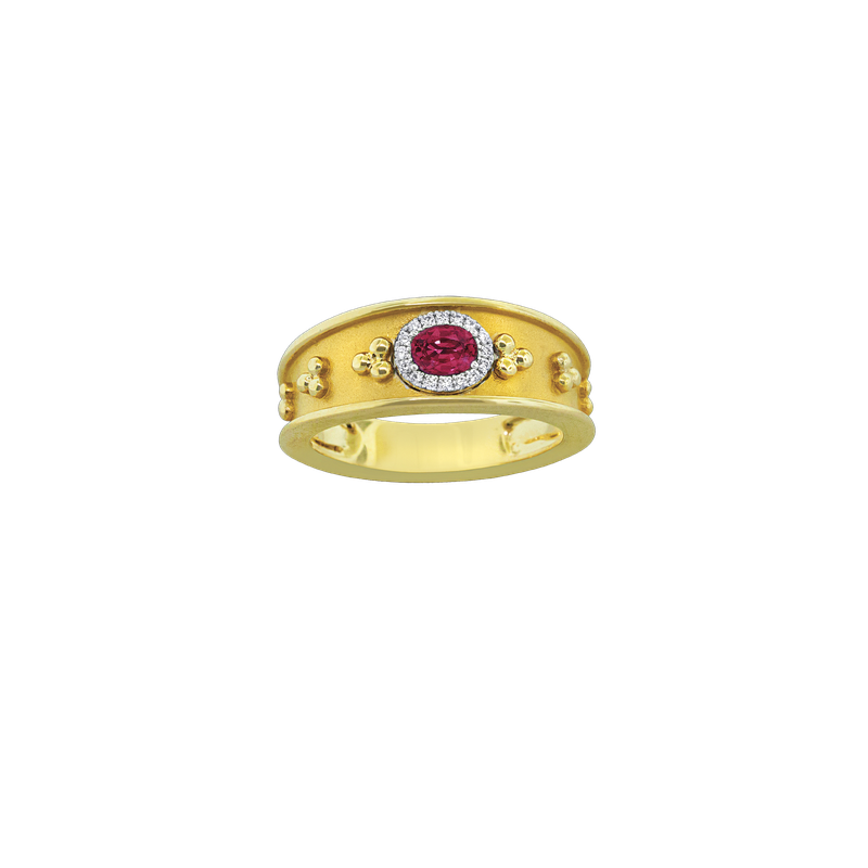 Spark Creations Etruscan Style Ruby Ring