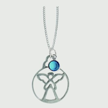 Birthstone Angel Pendant - December