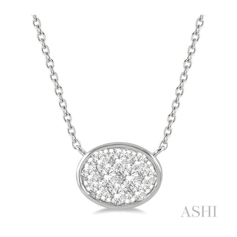 Barclay's Signature Collection oval shape lovebright essential diamond necklace