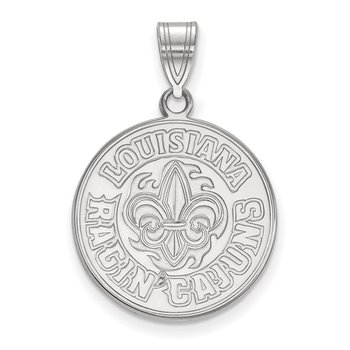 Gold University of Louisiana at Lafayette NCAA Pendant