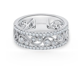 Whimisical Wide Diamond Wedding Band