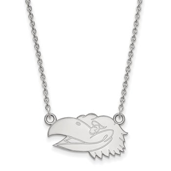 Sterling Silver University of Kansas NCAA Necklace