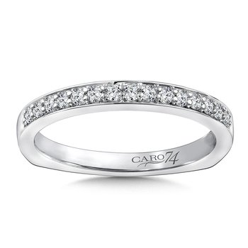 Stackable Wedding Band in 14K White Gold (.20 ct. tw.)