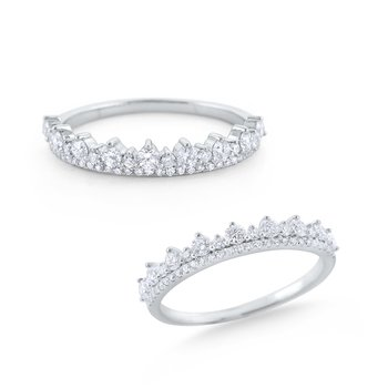 Diamond Tiara Band Set in 14 Kt. Gold