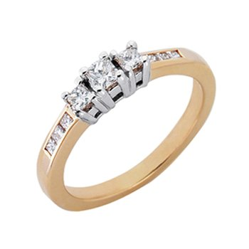 Designer Three Stone Ring