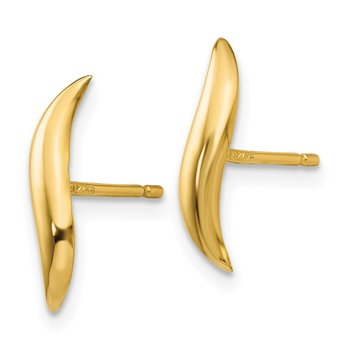 14k Polished Fancy Post Earrings