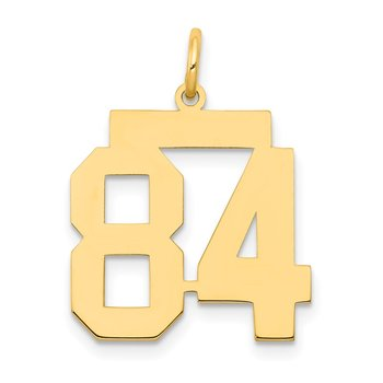 14k Medium Polished Number 84 Charm