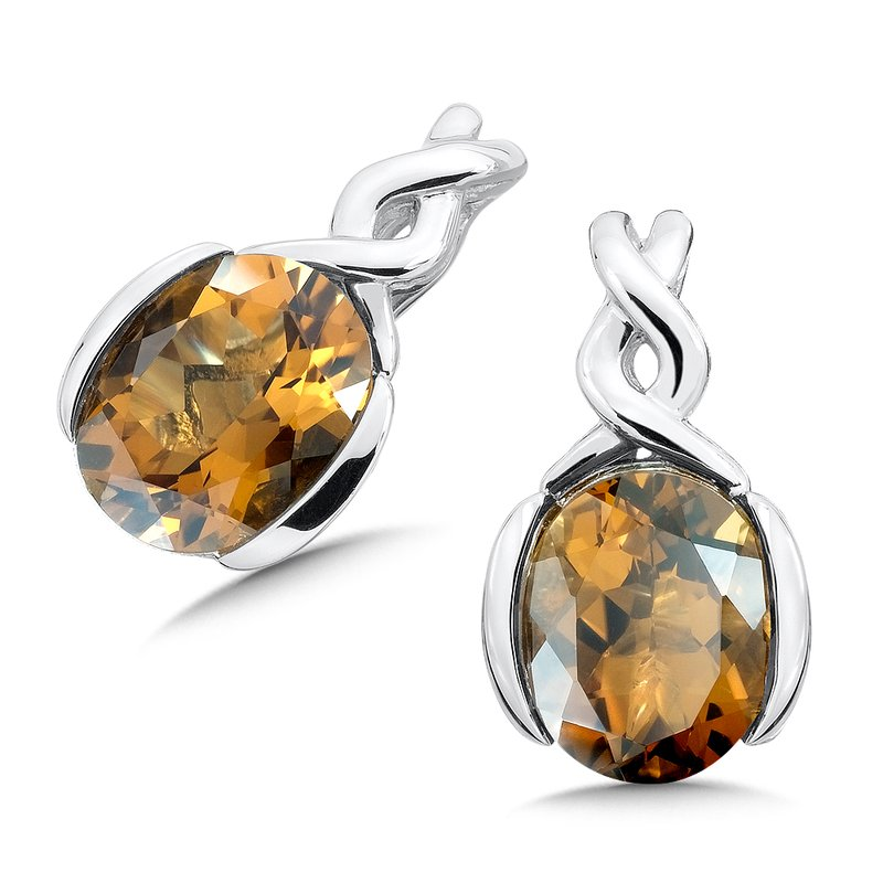 Colore Sg Sterling Silver Honey Citrine Post Earrings