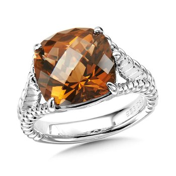 Sterling Silver Honey Citrine Ring