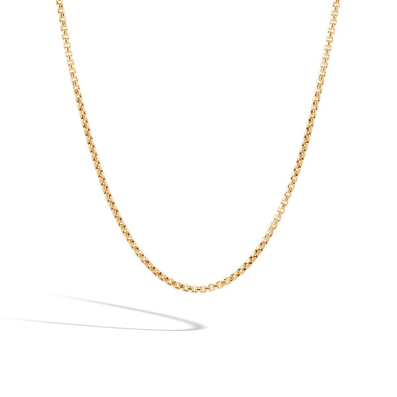 JOHN HARDY 2.5MM Box Chain Necklace in 18K Gold