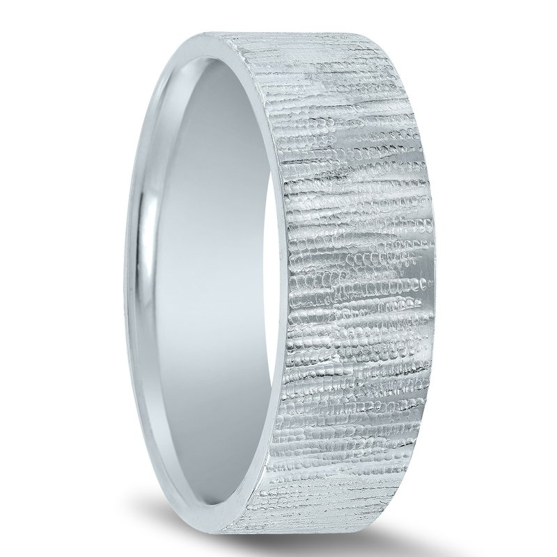 N17185 - Men's Wedding Band with Organic Finish