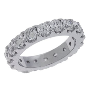 Platinum Eternity Diamond Band