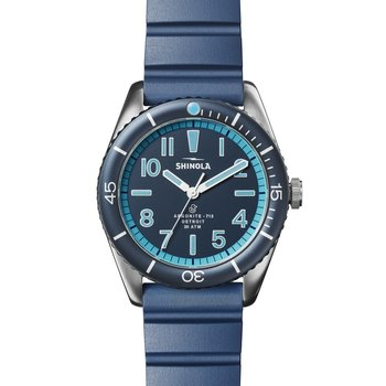 Duck 3H 42mm, Bay Blue Rubber Strap, BrSS