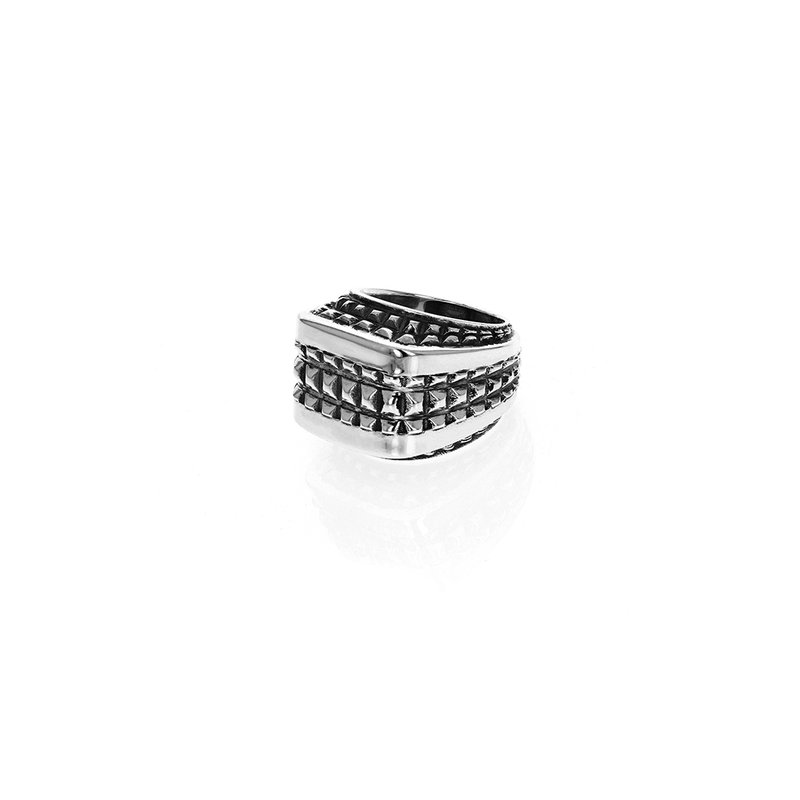 King Baby Squared-Off Texture Ring