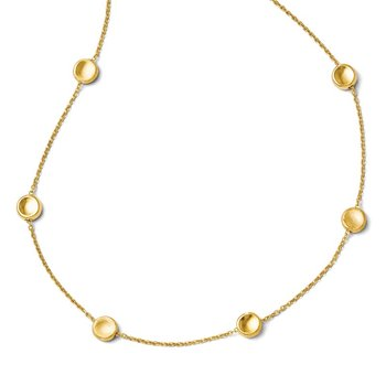 Leslie's 14K Polished and Satin Beaded Necklace