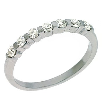 Platinum Diamond Bar Set Band