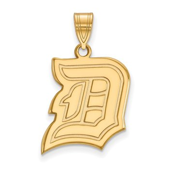 Gold-Plated Sterling Silver Duquesne University NCAA Pendant
