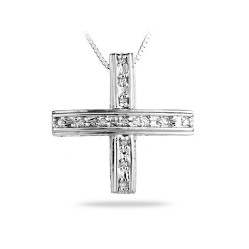 14K WG Diamond Fashion Pendant