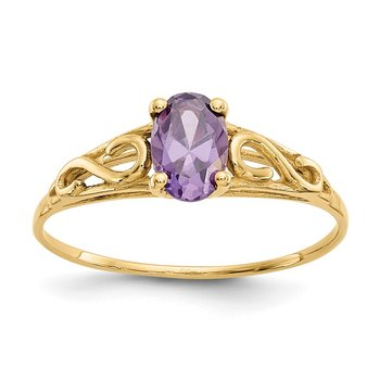 14k Madi K Synthetic Amethyst Ring