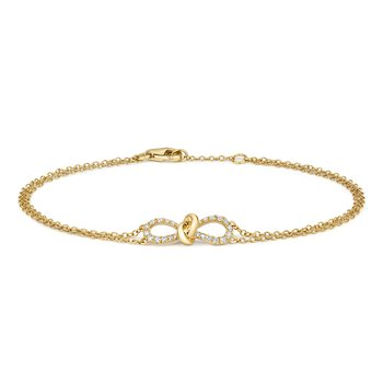 Diamond Bow Bracelet 6.5/7Inch