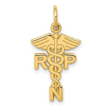 14k Registered Nurse Practitioner Charm