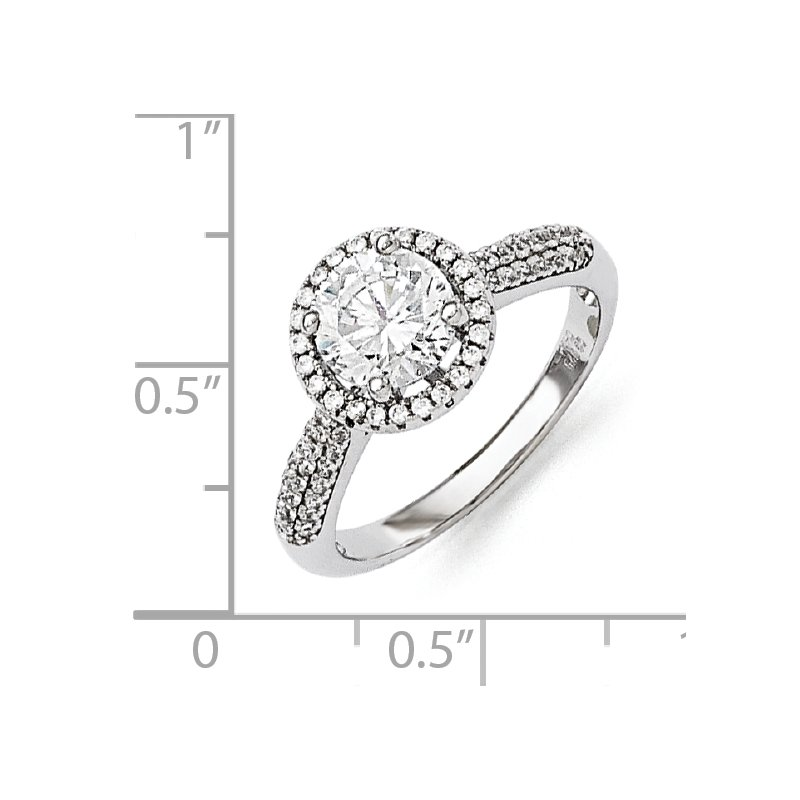 Lester Martin Online Collection Sterling Silver Brilliant Embers Rhodium-plated CZ Ring