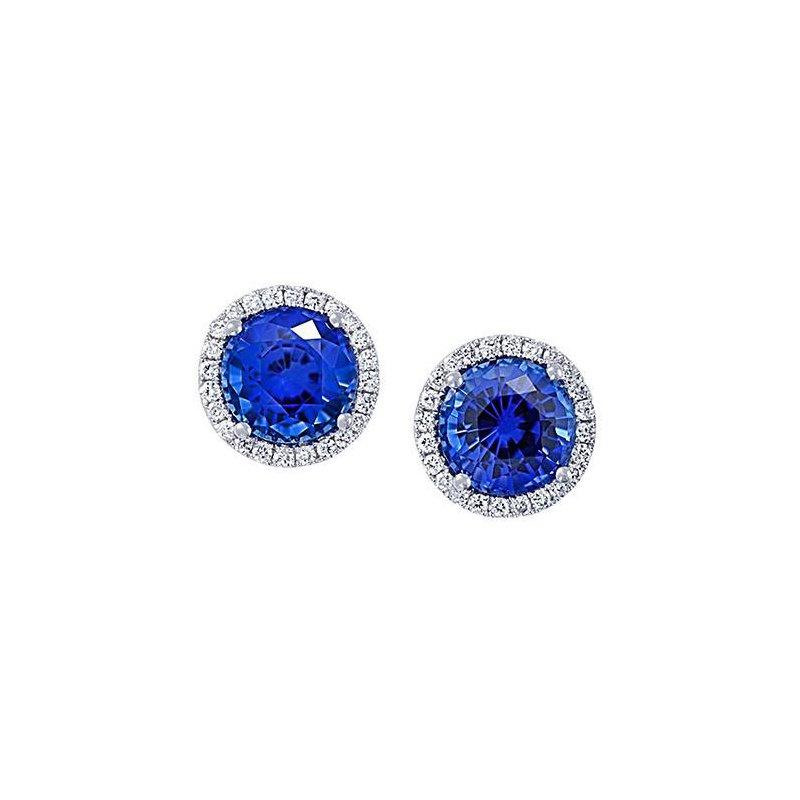 2f96c818e Bogart's Jewellers: Chatham Blue Sapphire Earrings-CE3829WBS