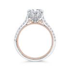 Carizza 14K Two-Tone Gold Round Diamond Engagement Ring (Semi-Mount)