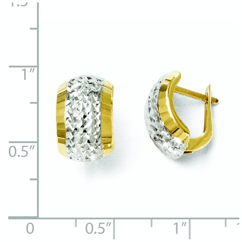 Leslie's Leslie's 10K w/Rhodium D/C Hinged Earrings