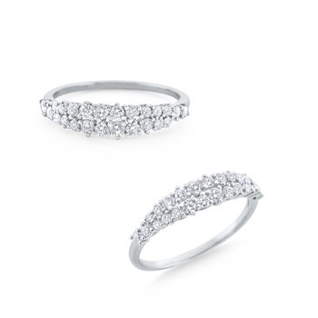 Diamond Band Set in 14 Kt. White Gold