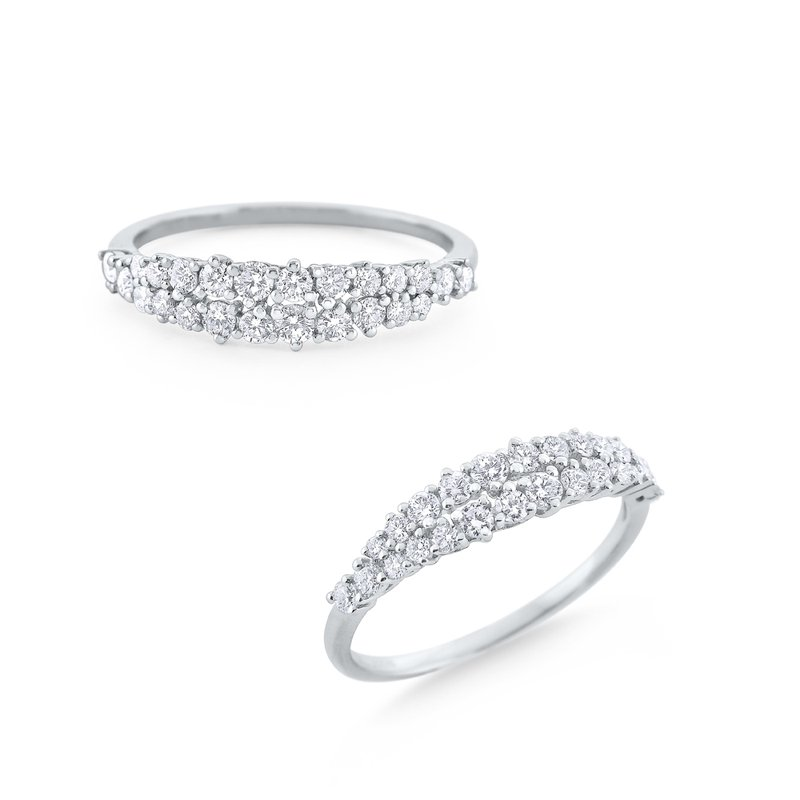 KC Designs Diamond Band Set in 14 Kt. White Gold