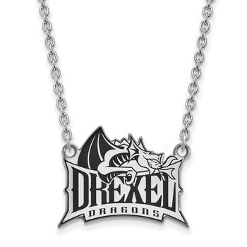 Sterling Silver Drexel University NCAA Necklace