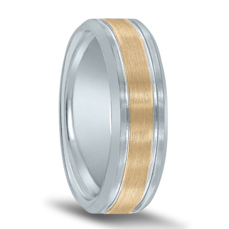 Men's Two-tone Wedding Band NT16617 by Novell