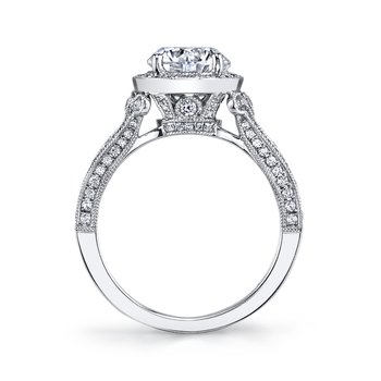 MARS 25964 Diamond Engagement Ring 0.60 Ctw.