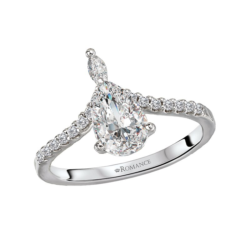 Romance Diamond Semi-Mount Engagement Ring