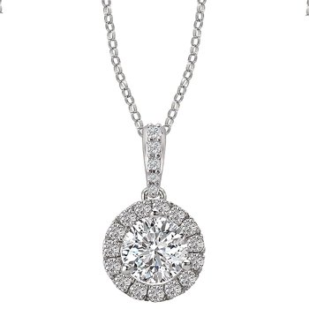 Semi-Mount Diamond Pendant
