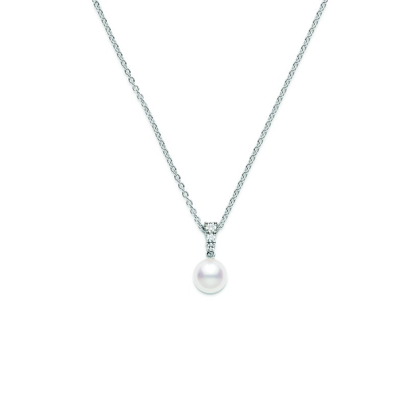 Mikimoto Morning Dew Akoya Cultured Pearl Pendant - White Gold