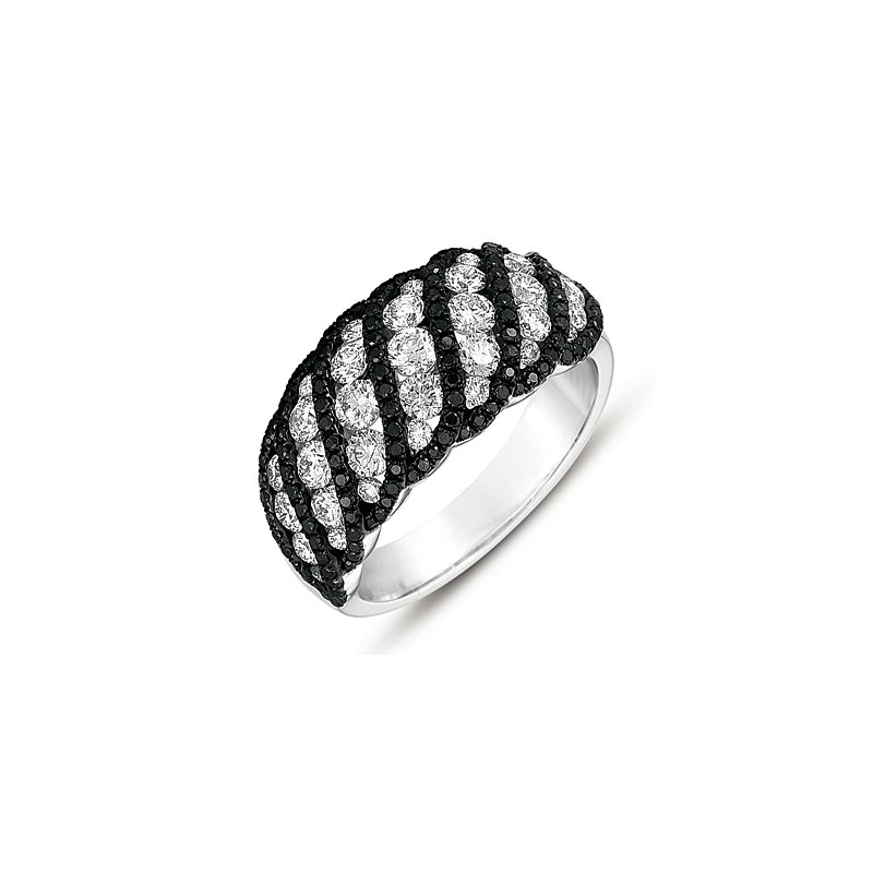 S. Kashi  & Sons White Gold Black & White Diamond Ring