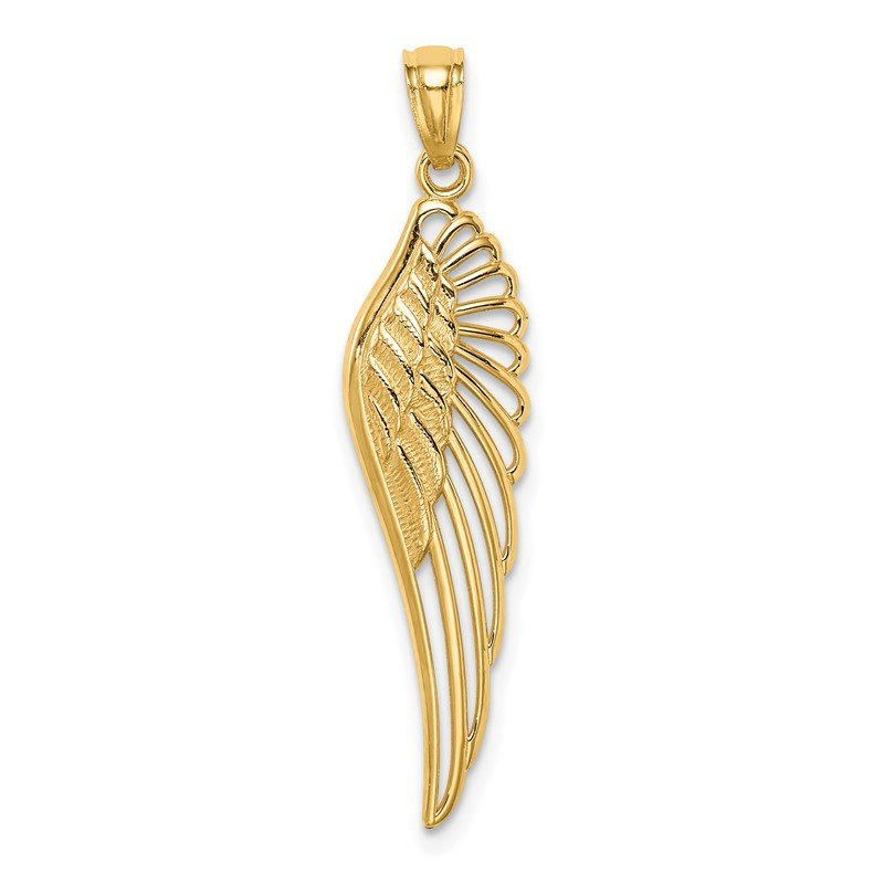 Quality Gold 14K Angel Wing Pendant