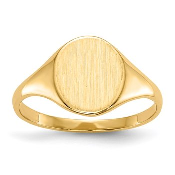 14k 9.5 x 8.0mm Open Back Signet Ring