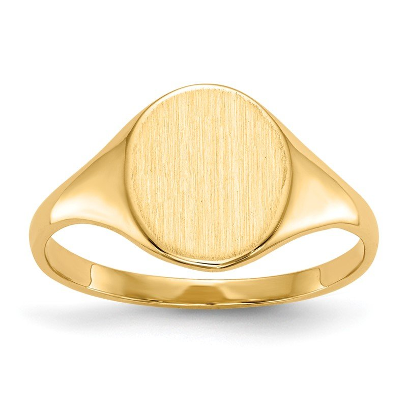 Quality Gold 14k 9.5 x 8.0mm Open Back Signet Ring