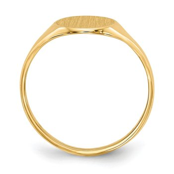 14k 10.0x8.5mm Open Back Signet Ring