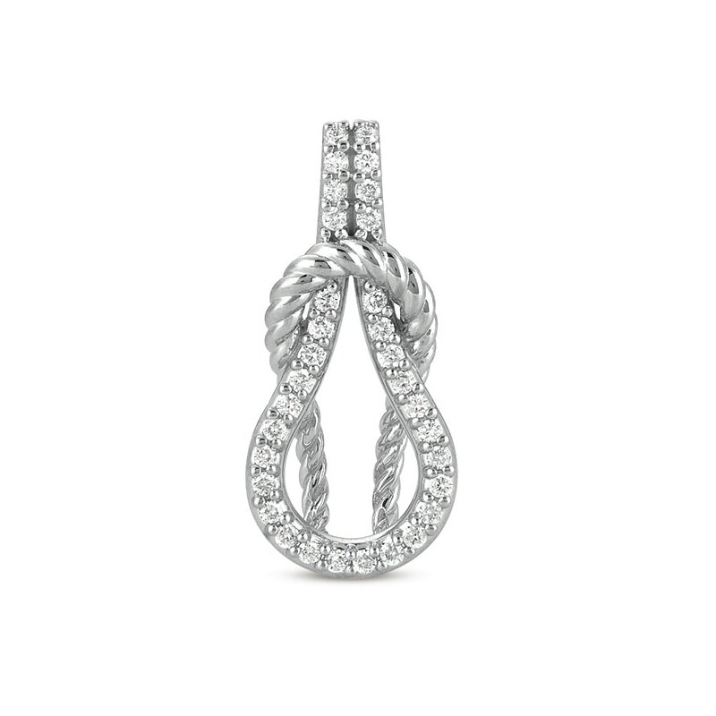 Briana White Gold Rope Love Knot Charm