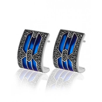 Modern Royal Earrings Blue