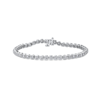 2.50 ct Round White Diamond Tennis Bracelet In Gold