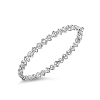 #19337 Of Single Row Diamond Bangle