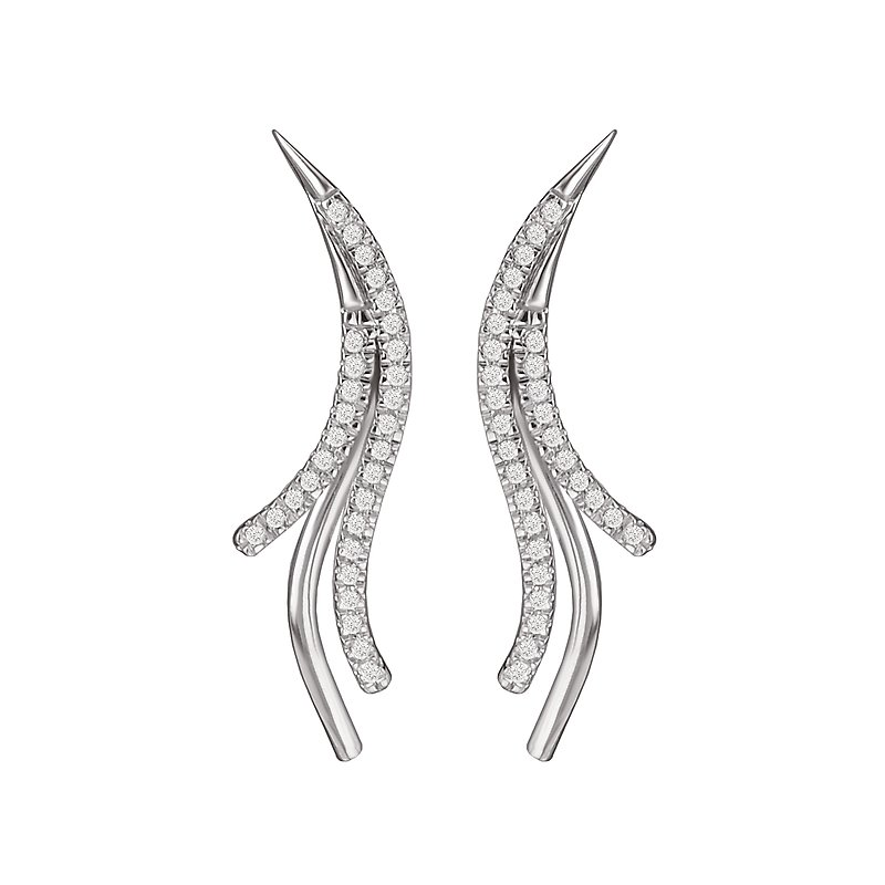 Eleganza Diamond Ear Climbers