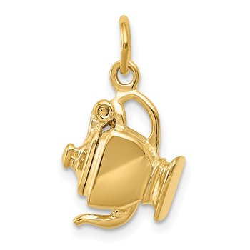 14k 3-D Tea Pot Lid Opens Charm