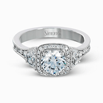 Simon G MR2648 ENGAGEMENT RING